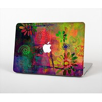 """The Neon Colored Grunge Surface Skin Set for the Apple MacBook Pro 15"""" with Retina Display"""