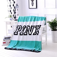 Fashion Victoria Secret Blanket Manta Fleece Blanket Throws
