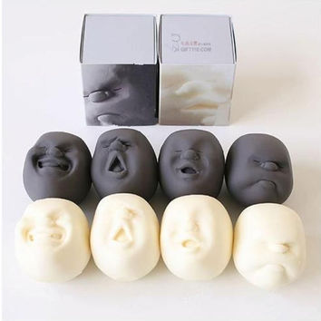 Face Emotions Vent Ball Toy Resin Human Face Doll Adult Stress Relievers Japanese Design Anti-stress Geek Gadget Vent Toy