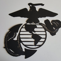 Marine Corps Emblem USMC Metal Wall Art Decor