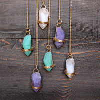 love spell stone necklace (3 colors)