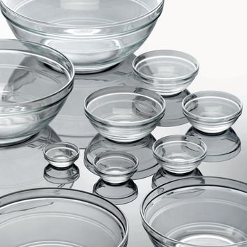 MODULE R | Duralex Lys Stackable Clear Bowls - Cookware - Cooking and Eating