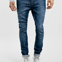 Mid Wash Spray On Skinny Fit Jeans - Last Chance To Buy - Clothing