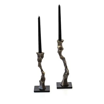 Shop sculptural Taper Candle Stand you will love | Peetal and Carissa
