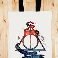 BAG Galaxy Deathly Hallows Bag Galaxy Bag Happy Potter Bag Chic Bag Women Bag Men Bag Canvas Tote Bag Diaper Bag Gift Bag Big Size