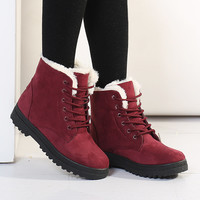 British Style Fashion Laced Warm Women Short Ankle Boots