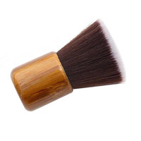 Brand Makeup BrushesAirbuki Bamboo Powder Foundation Brush Contour Make Up Flat Kabuki Kit Pinceis Maquiagem