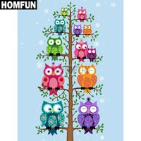5D Diamond Painting Colorful Owls Kit