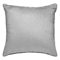 Suede Welt Cord Pillow, Drizzle Grey, 18""