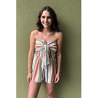 With You Romper- Mint Multi