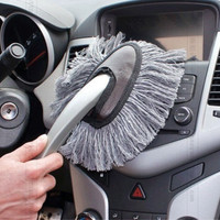 Gray Multi-functional Car Duster Cleaning Dirt Dust Clean Brush Dusting Tool Mop = 1697603012