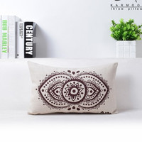 mandala abstract geometry national wind sunflower cotton and linen pillowcase car sofa cushion for leaning on