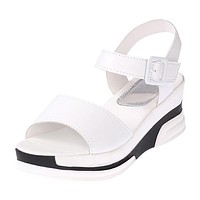 Summer shoes woman Platform Sandals Women Soft Leather Casual Open Toe Gladiator wedges Women Shoes zapatos mujer X6