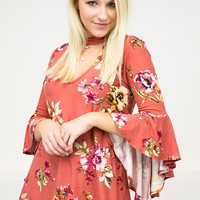 Autumn Bell Floral Top