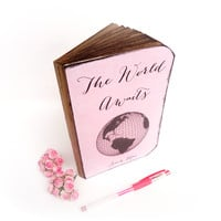 Personalized Travel Journal - Boss Lady Journal - The World Awaits - Baby Shower Guest Book