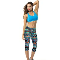 Durable Fashion Fitness Pants High Waist Fitness Pants Printed Stretch Cropped Leggings