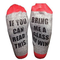 """If you can read this"" Winter Cotton Unisex Socks [9575806415]"