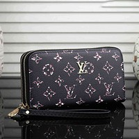 Louis Vuitton LV Hot Selling Classic Long Zip Wallet Card Holder Fashion Ladies Hand Purse