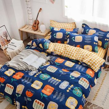 Exclusive Trendy Colorful Duvet Cover Bedding Set