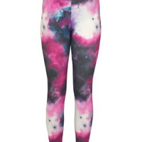 ACTIVE Women Galaxy Print Compression Leggings - Proskins Co
