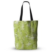 "Jacqueline Milton ""Fun Fern - Green"" Green Floral Everything Tote Bag"