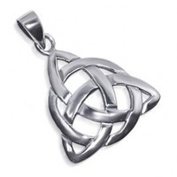 925 Sterling Silver 25mm Endless Knot Triquetra Celtic Pendant