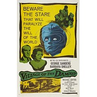 Village of the Damned Poster//Village of the Damned Movie Poster//Movie Poster//Poster Reprint//Home Decor//Wall Decor