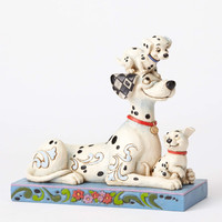 "Disney Jim Shore Traditions Pongo with Penny and Rol "" Puppy Love "" New Box"