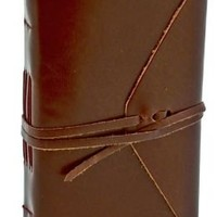 Bombay Brown Leather Journal with Tie 4x6