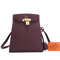 Hermes Hot Sale Classic Mini Bucket Bag Fashion Ladies One Shoulder Messenger Bag