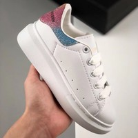 Alexander McQueen White Multi Toddler Kid Shoes Child Sneakers - Best Deal Online
