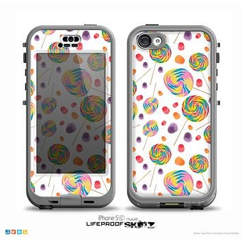 The Lollipop Candy Pattern Skin for the iPhone 5c nüüd LifeProof Case