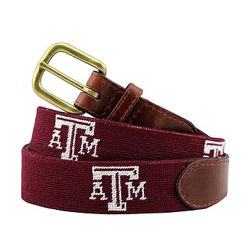 Texas A&M Needlepoint Belt by Smathers & Branson