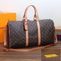 Louis Vuitton LV Luggage Bag Travel Bag Fashion Big Bag Print Tote Handbag Coffee LV print