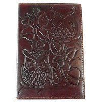 "Night Owl"" Embossed Leather Journal"