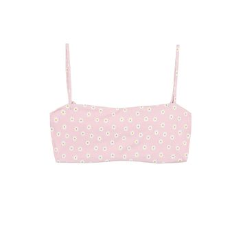 Skin by Same - Bandeau Top   Pink Daisy