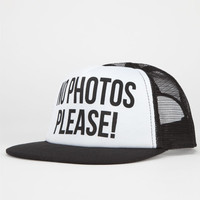 Young & Reckless No Photos Please Womens Trucker Hat Black One Size For Women 24086610001