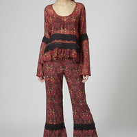 Lace Trim Flares by Band of Gypsies - Topshop
