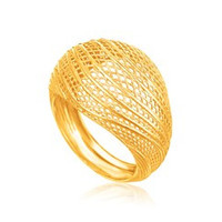 Lattice Ring in 14K Yellow Gold