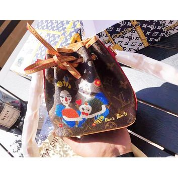 LV Louis Vuitton Hot Sale Women Leather Cute Mini Bucket Bag Satchel Crossbody Shoulder Bag