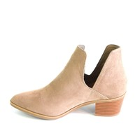 Taupe Cutout Ankle Boot