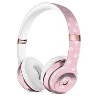 Micro White Crowns Over Pink Full-Body Skin Kit for the Beats by Dre Solo 3 Wireless Headphones
