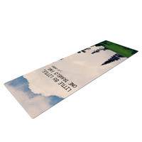 """Robin Dickinson """"Little By Little"""" Clouds Typography Yoga Mat"""