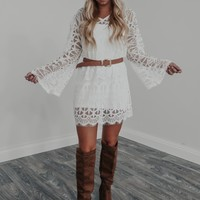 Piece Of Your Heart Dress: White