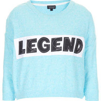 Knitted Legend Crop Sweat
