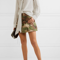 Marc Jacobs - Pussy-bow polka-dot silk crepe de chine blouse