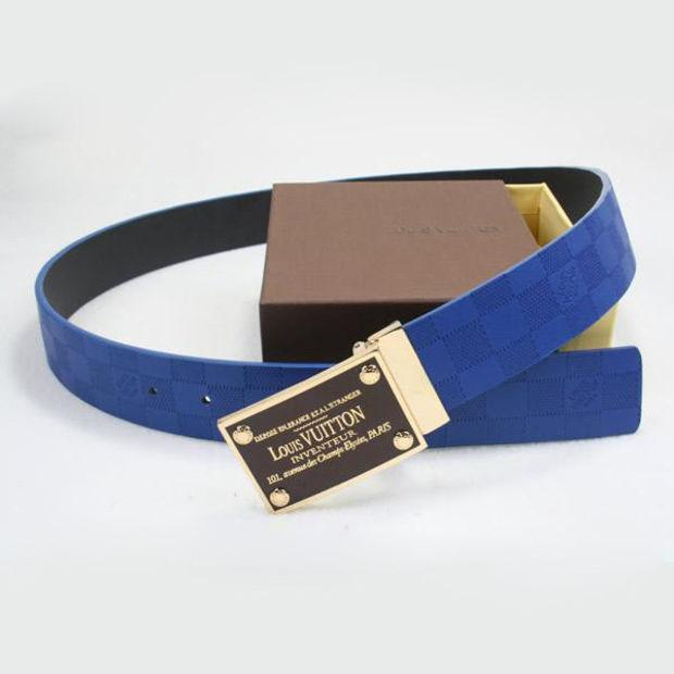 Image of LV Woman Fashion Smooth Buckle Belt Leather Belt