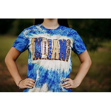 **YOUTH ** Double stacked Tie Dye Spirit Shirt
