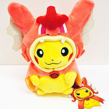 Pokemon Center Plush Doll Gyarados Pikachu  Action Figure New with Tag Red 23cm