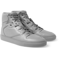 Balenciaga - Panelled Leather High Top Sneakers | MR PORTER